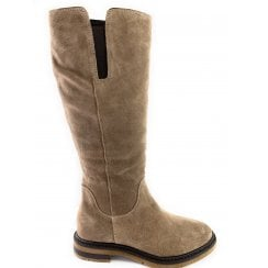 25616-23 Taupe Suede Knee-High Boot