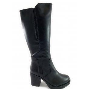 25617-23 Black Knee-High Boot