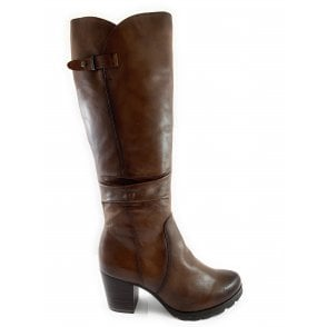 25620-23 Brown Leather Knee-High Boot