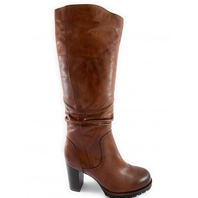 Marco Tozzi 25631-23 Tan Leather Knee-High Boot