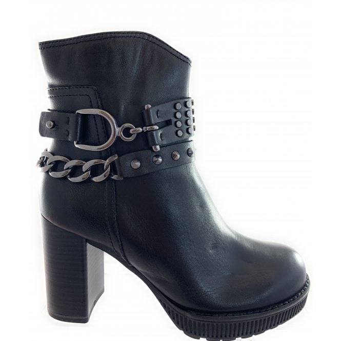 Marco Tozzi 25800-23 Black Leather Ankle Boot
