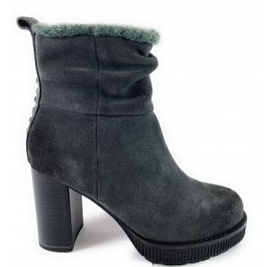 25803-23 Dark Grey Suede Ankle Boot