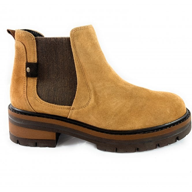 Marco Tozzi 25819-23 Tan Suede Chelsea Boot