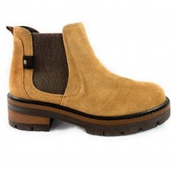 25819-23 Tan Suede Chelsea Boot