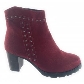 25830-23 Burgundy Ankle Boot