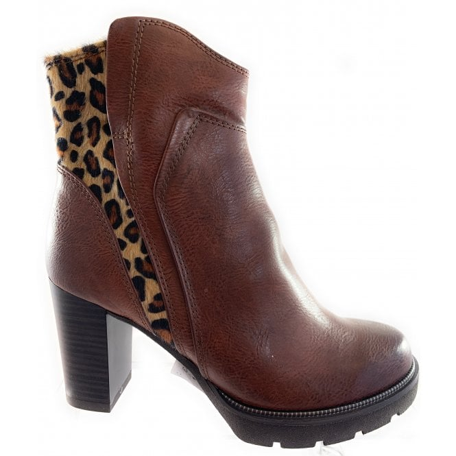 Marco Tozzi 25839-33 Chestnut Brown Heeled Ankle Boot