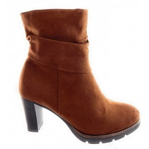 25844-23 Tan Microfibre Ankle Boot
