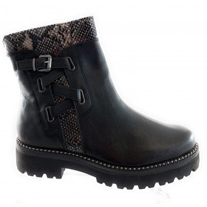 Marco Tozzi 25845-33 Black Ankle Boot