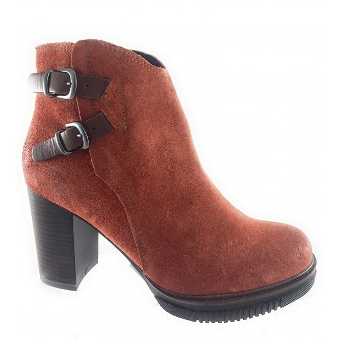 Marco Tozzi 25858-33 Burnt Orange Suede Ankle Boot