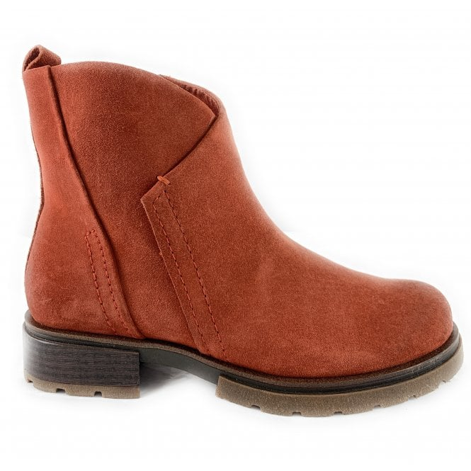 Marco Tozzi 25865-33 Burnt Orange Suede Ankle Boot