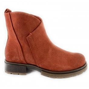 25865-33 Burnt Orange Suede Ankle Boot
