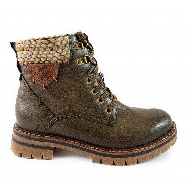 Marco Tozzi 26220-23 Khaki Green Ankle Boot
