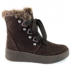 26238-23 Brown Suede Casual Ankle Boot