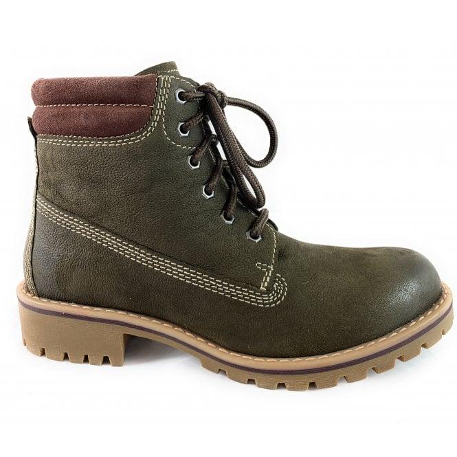 Marco Tozzi 26248-33Khaki Lace-Up Ankle Boot