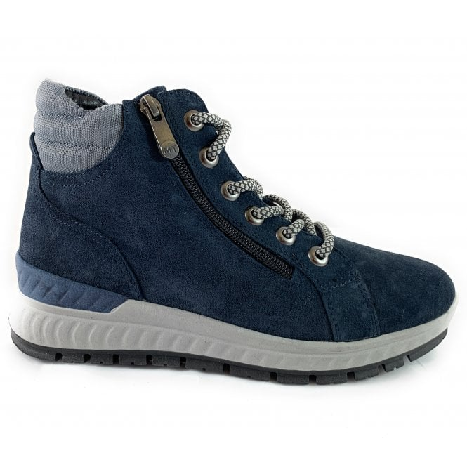 Marco Tozzi 26278-23 Navy Suede Sporty Ankle Boot