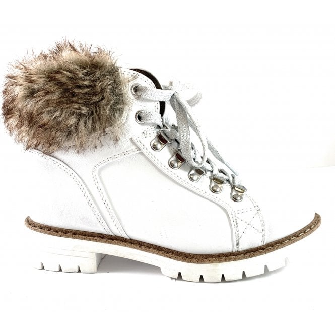 Marco Tozzi 26293-23 White Ankle Boot