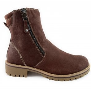 26407-33 Brown Leather Ankle Boot