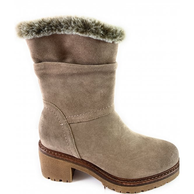 Marco Tozzi 26499-23 Taupe Suede Boot
