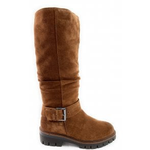 26605-23 Tan Suede Knee-High Boot