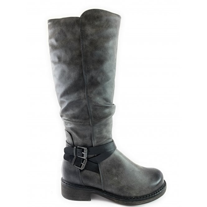 Marco Tozzi 26622-23 Grey Knee-High Boot