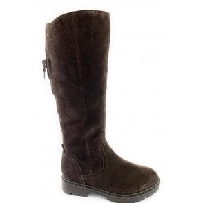 26626-23 Brown Suede Knee-High Boot