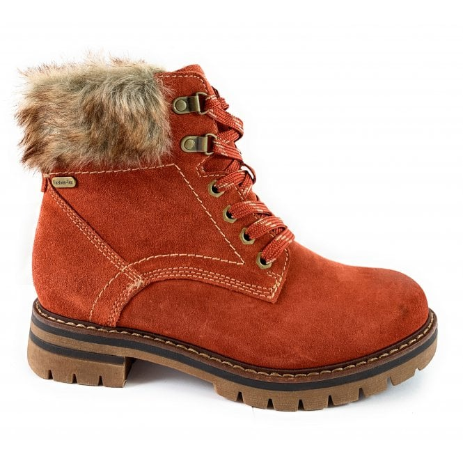 Marco Tozzi 26703-33 Burnt Orange Suede Ankle Boot