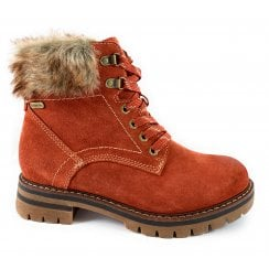 26703-33 Burnt Orange Suede Ankle Boot
