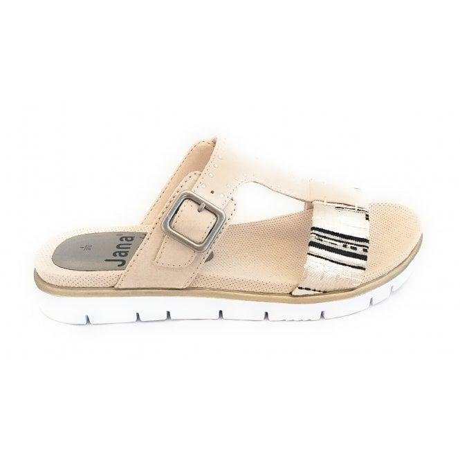 Jana 27100 Beige Multi Mule Sandal
