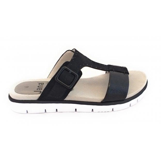 Jana 27100 Black Mule Sandal