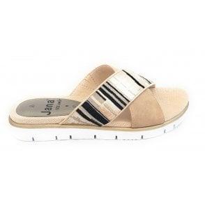 27103 Beige Multi Mule Sandal
