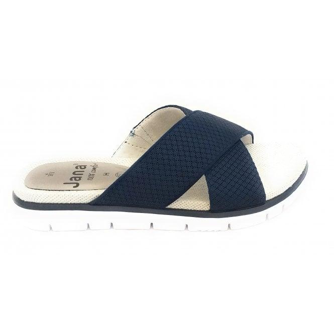 Jana 27103 Navy Textile Mule Sandal