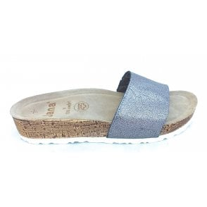 27203 Pewter Metallic Mule