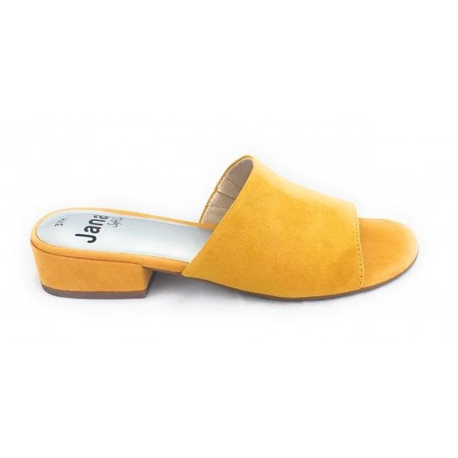 Jana 27260 Yellow Microfibre Mule