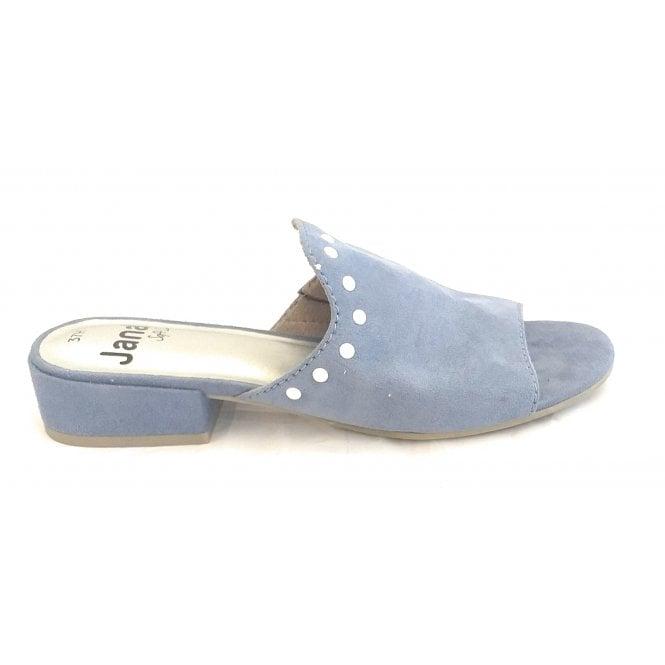 Jana 27262 Blue Microfibre Mule