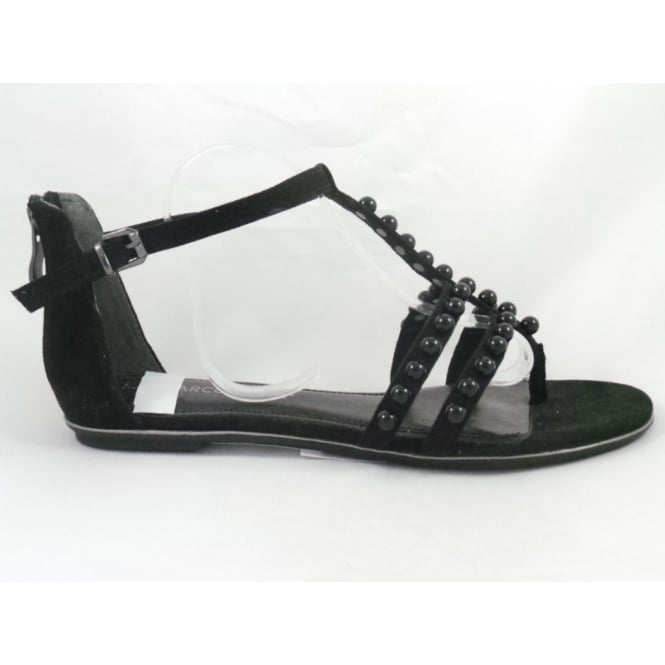 Marco Tozzi 28110 Bivio Black Toe-Post Sandal
