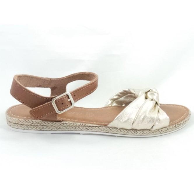 Marco Tozzi 28146 Gold Open-Toe Sandal