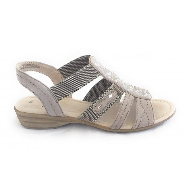 Jana 28163 Light Taupe Open-Toe Sandal