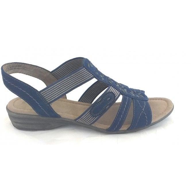 Jana 28163 Navy Open-Toe Sandal