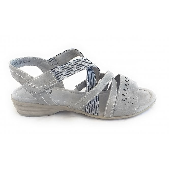 Jana 28164 Light Grey Wide Fit Casual Sandal