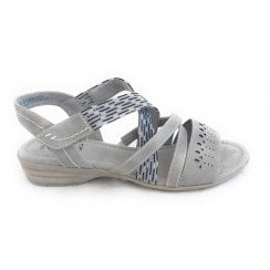 28164 Light Grey Wide Fit Casual Sandal