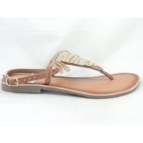 28209 Tan Toe-Post Sandal