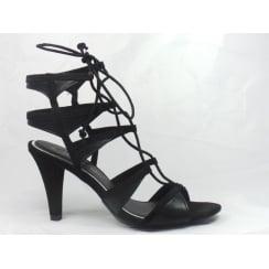 28324 Carda Black Strappy Sandal