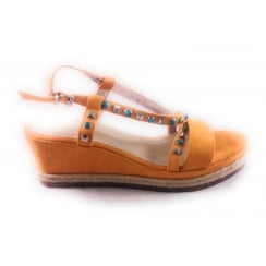 28357 Zorte Mango Open-Toe Wedge Sandal