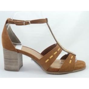 28379 Tan Open-Toe Sandal