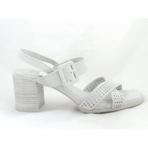 28380 Light Grey Faux Suede Sandal