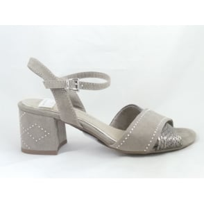 28382 Ala Light Grey Open-Toe Sandal