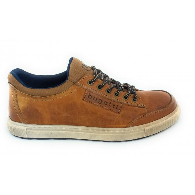Bugatti 321-A5G60 Huberto Tan Leather Casual Lace-Up Shoes