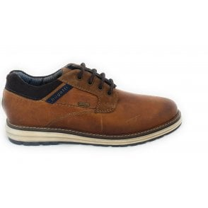 331-A5C01 Pako Tan Leather Casual Lace-Up Shoes