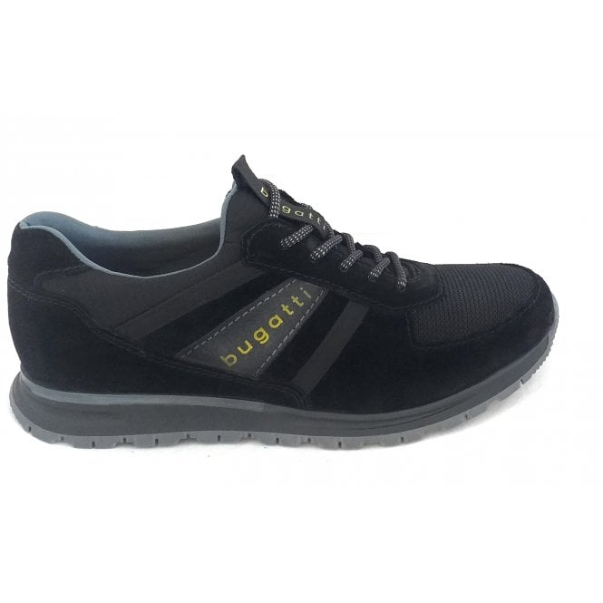 Bugatti 333-81960 Stranger Black Suede Lace-Up Casual Shoes