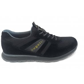 333-81960 Stranger Black Suede Lace-Up Casual Shoes
